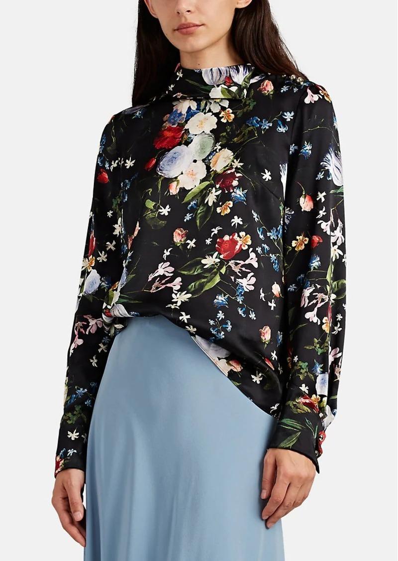 558f03bebb32f Erdem Erdem Women s Florinn Floral Silk Blouse