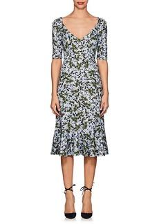 Erdem Women's Glenys Floral Jersey Dress