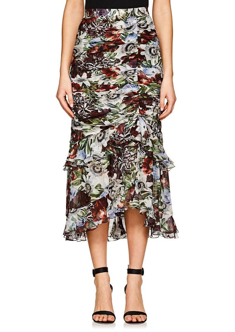 dac7d7f7f3 Erdem Erdem Women's Josi Floral Silk Ruched Midi-Skirt
