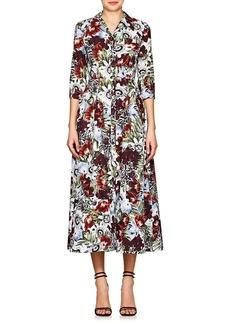 Erdem Women's Kasia Floral Cotton Shirtdress