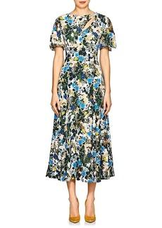 Erdem Women's Kathryn Floral Crepe Cocktail Dress