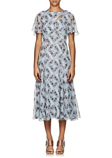 Erdem Women's Kathryn Floral Silk Midi-Dress