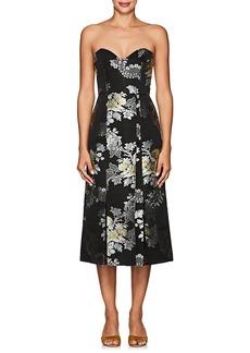 Erdem Women's Leora Floral-Jacquard Strapless Dress