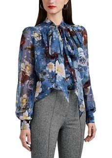 13b9419581059 Erdem Women s Lucien Floral Silk Chiffon Blouse