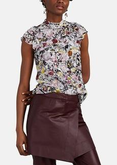 071bba3d6c94f Erdem Erdem Edlyn ruffle-trimmed silk blouse