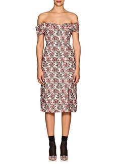 Erdem Women's Teagan Floral Fil Coupé Woven Midi-Dress