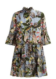 Erdem Wyn Fassett Dream-print silk mini dress