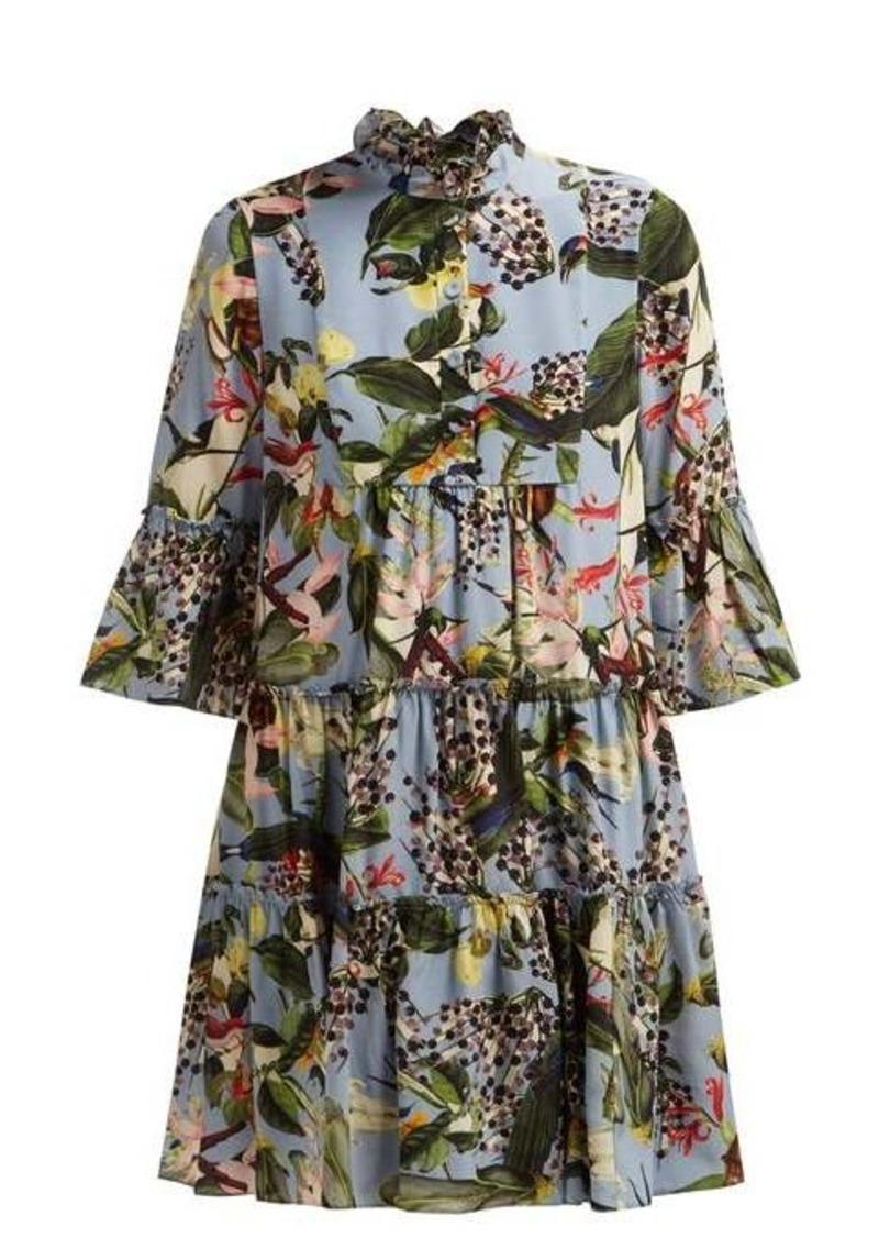 Erdem Wyn Fassett Dream-print silk mini dress