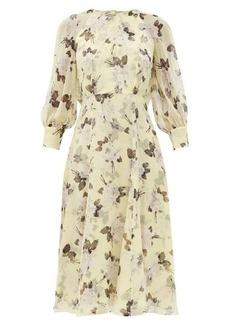 Erdem Yusra Rosemont Wallpaper-print silk dress