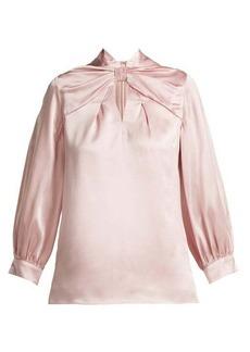 Erdem Zadie silk-satin blouse
