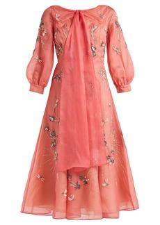 Erdem Zelena Astaire-beaded silk-organza dress