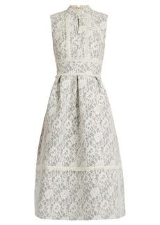 Erdem Zinaida floral-lace structured dress