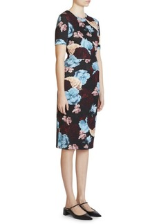 Erdem Essie Floral Sheath Dress