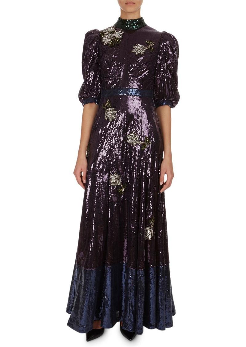 530ea34aaea Erdem Evadne Floral Sequined Silk Organza Gown Now  1