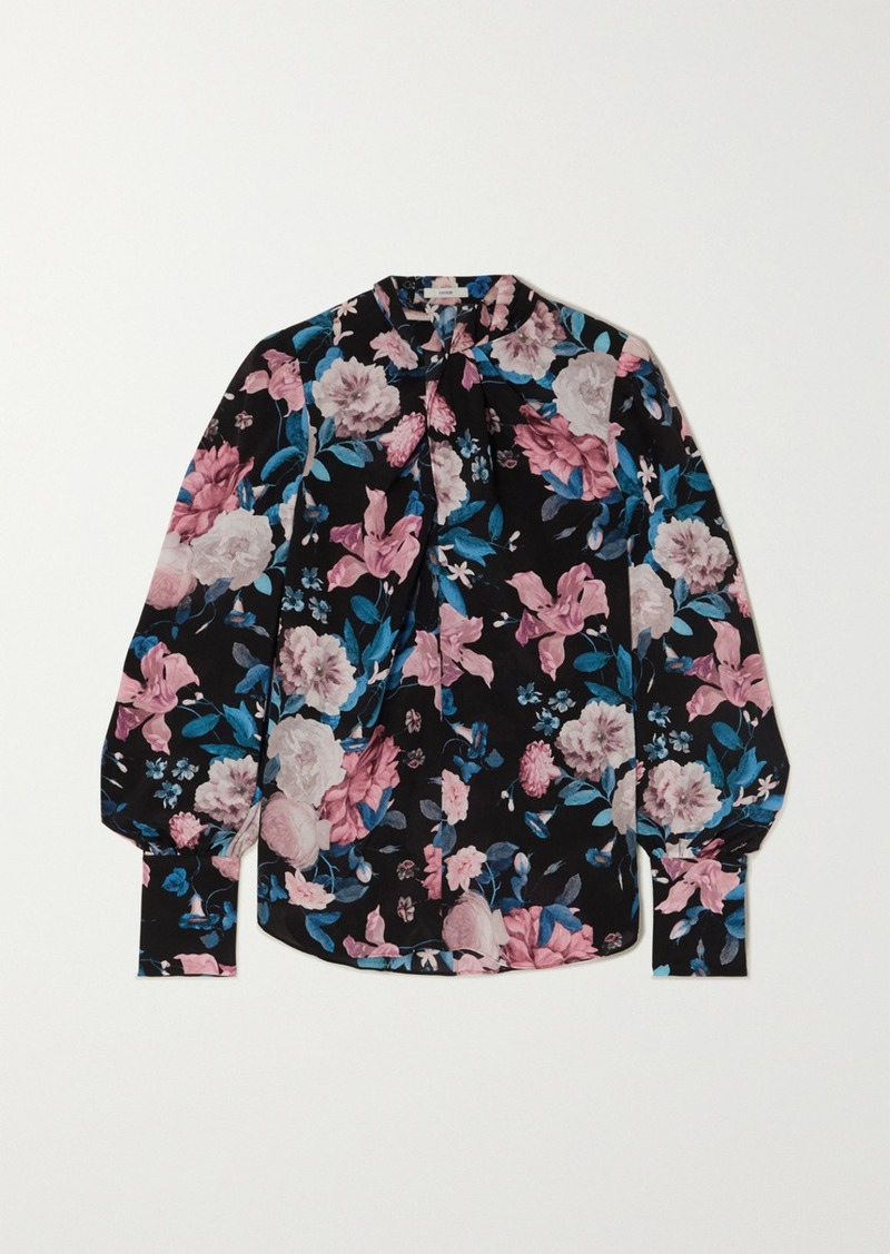Erdem Fayola Floral-print Silk Crepe De Chine Blouse
