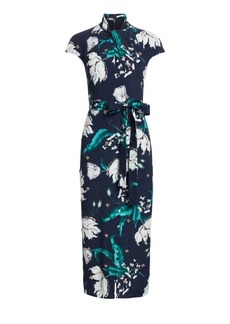 Erdem Finn Beaded Floral Midi Dress