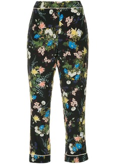 Erdem floral cropped trousers