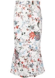 Erdem floral-print midi skirt