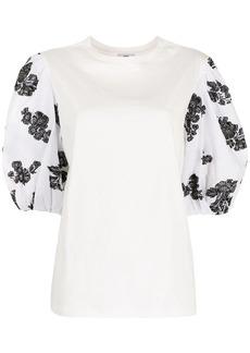 Erdem floral puff-sleeve top