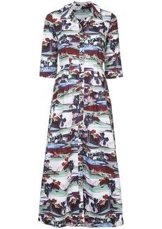 Erdem graphic print shirt dress