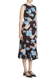 Erdem Grazia Floral Ruffle Dress