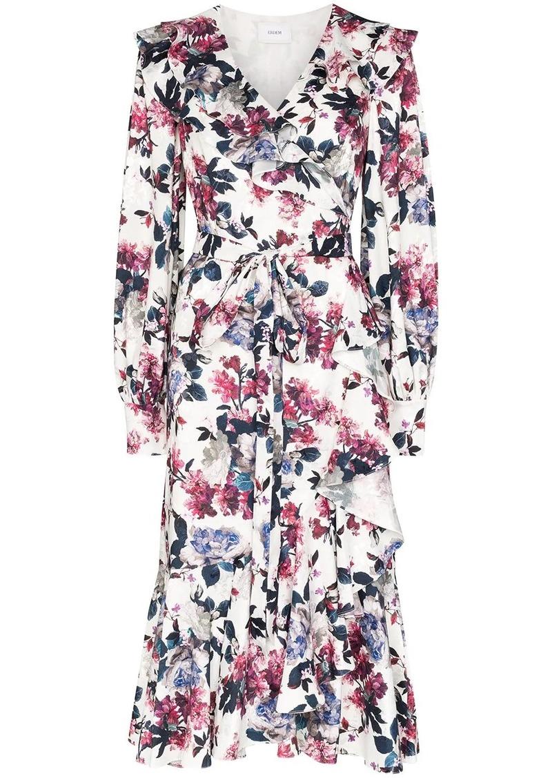 Erdem Jerridine printed silk wrap dress
