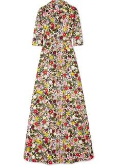 Erdem Karissa Floral-print Cotton-poplin Gown