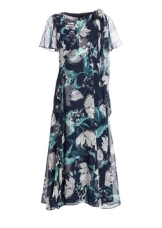 Erdem Kristie Floral Silk Midi Dress