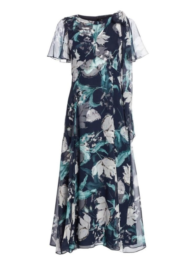 Erdem Kristie Floral Silk Midi Dress