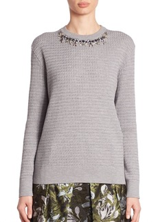 Erdem Lana Embellished Sweater
