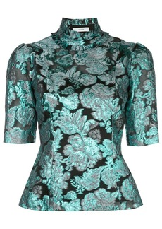 Erdem metallic print blouse