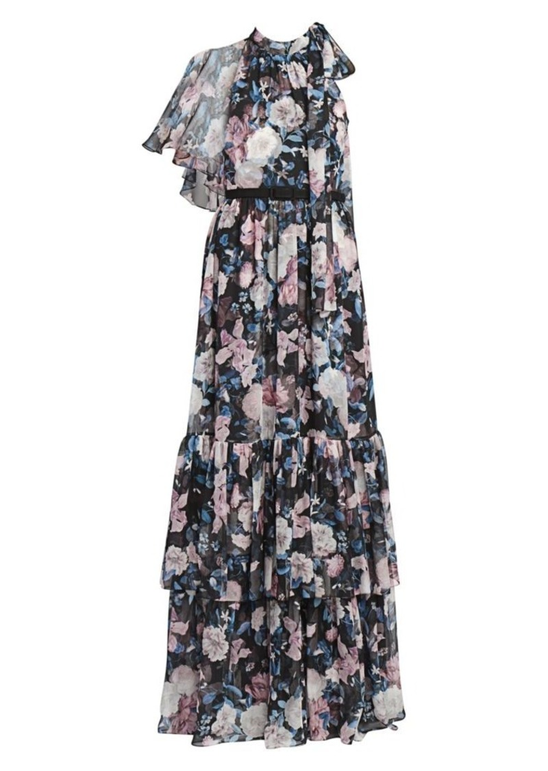 Erdem Natalina Dusk Bouquet Silk Gown
