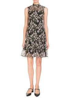 Erdem Nena Sleeveless A-Line Floral-Embroidered Dress