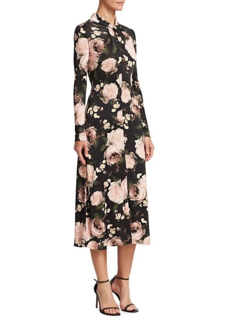e0c61d739f0 Erdem Nolene Floral Midi Dress