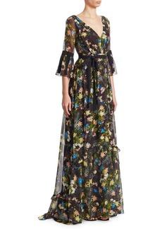 Erdem Petunia Floral-Print Maxi Dress