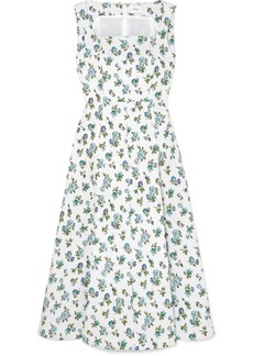 Erdem Polly Floral-jacquard Midi Dress