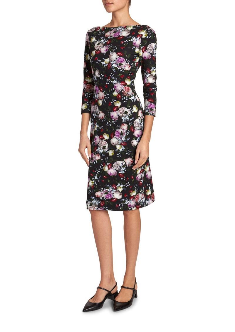Erdem Reese 1/2-Sleeve Dress