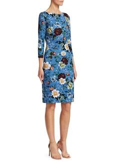 Erdem Reese Floral Boatneck Dress