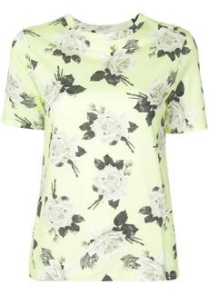 Erdem rose print round neck T-shirt