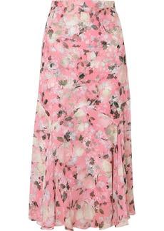 Erdem Shea Floral-print Silk-voile Midi Skirt