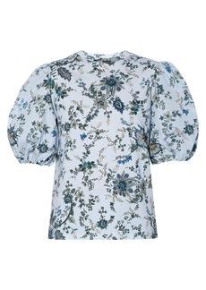 Erdem Theodora Puff-Sleeve Floral T-Shirt