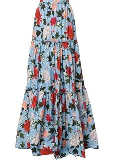 Erdem tiered maxi skirt