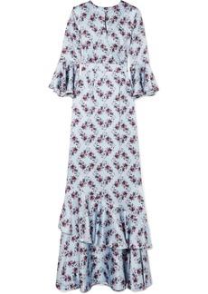 Erdem Venice Ruffle-trimmed Silk Gown