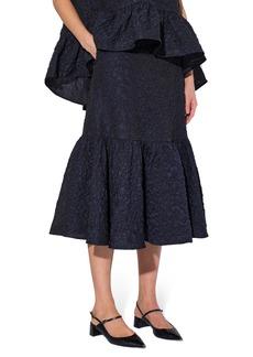 Women's Erdem Lue Tiered Jacquard Skirt