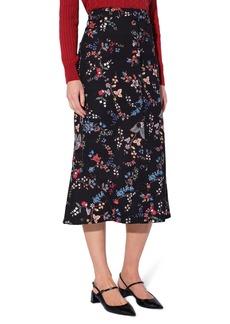 Women's Erdem Victorine Floral A-Line Stretch Cotton Skirt