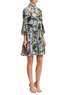 Erdem Wyn Floral Silk Dress