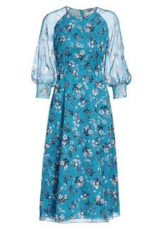 Erdem Yursa Daffodil Bouquet Silk Midi Dress