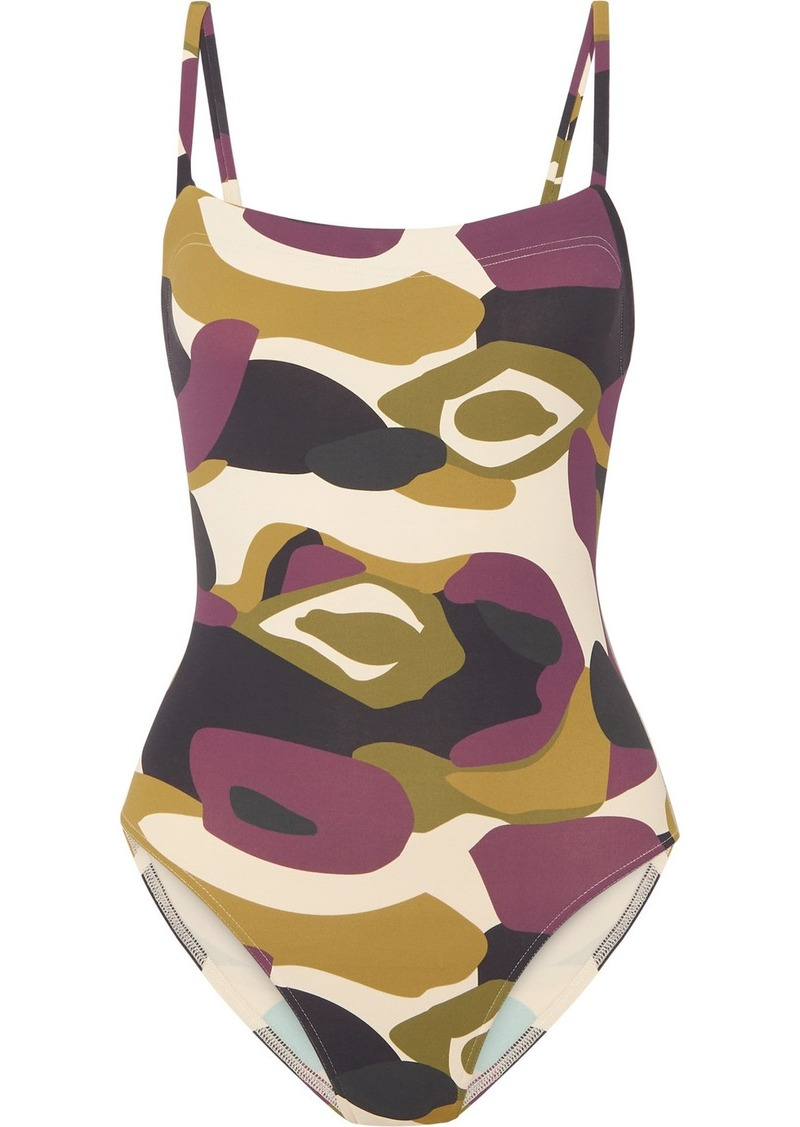 Eres Aquarelle Camouflage-print Swimsuit