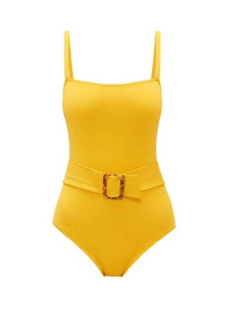 Eres Guilty belted square-neck swimsuit