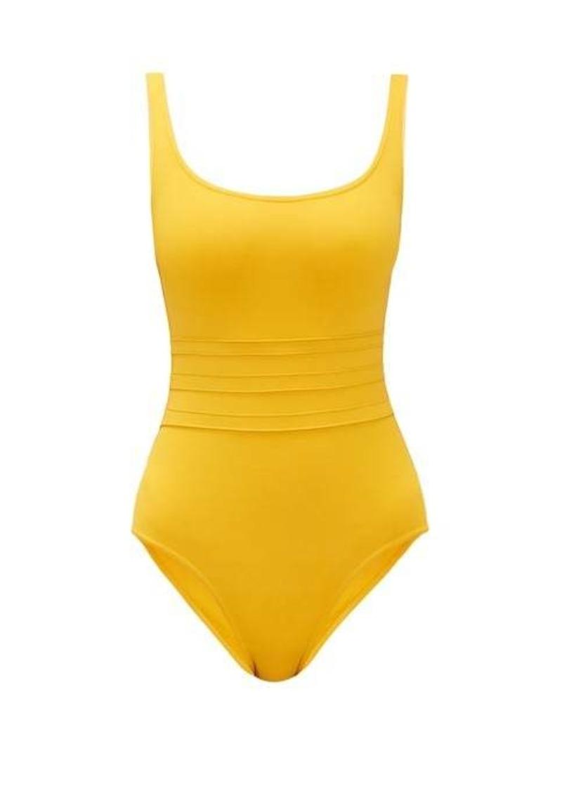 Eres Panelled-waist round-neck swimsuit